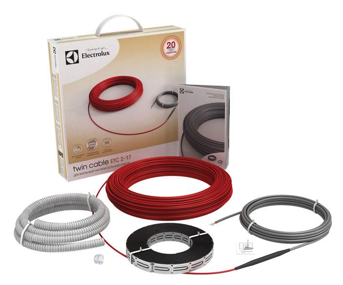 Нагревательные секции Twin Cable с длиной кабеля от 6 до 150 метров.